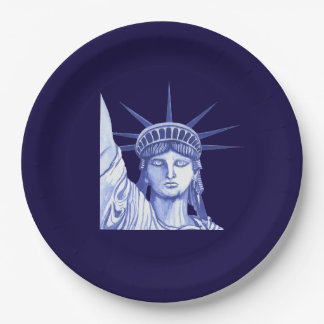Statue Of Liberty July Fourth Holiday paper plate