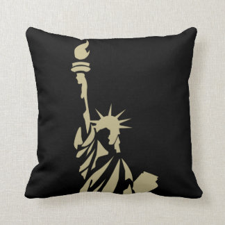 Statue of Liberty - New Colossus Patriotic Poem Throw Pillow