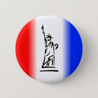 Statue of Liberty New York 2 Inch Round Button