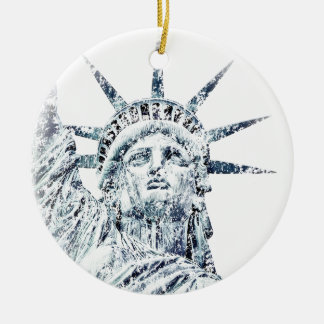 Statue of Liberty New York City Round Ceramic Ornament