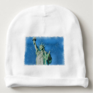 Statue of liberty, New York watercolors painting Baby Beanie