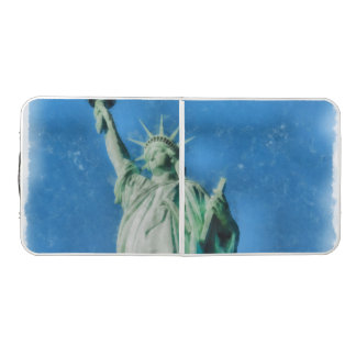 Statue of liberty, New York watercolors painting Beer Pong Table