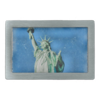 Statue of liberty, New York watercolors painting Belt Buckle