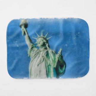 Statue of liberty, New York watercolors painting Burp Cloth