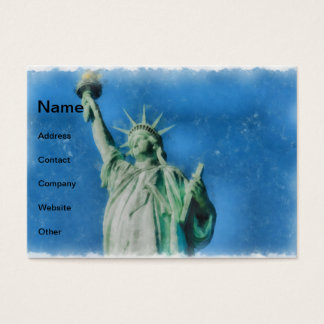 Statue of liberty, New York watercolors painting Business Card