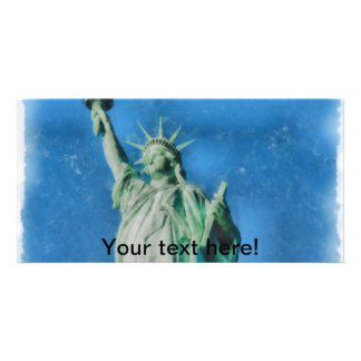 Statue of liberty, New York watercolors painting Card
