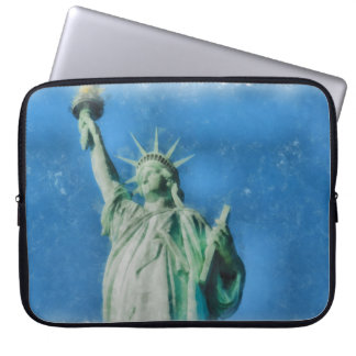 Statue of liberty, New York watercolors painting Computer Sleeves
