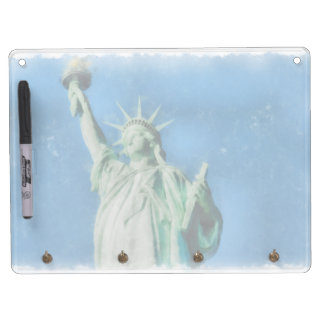 Statue of liberty, New York watercolors painting Dry Erase Board With Keychain Holder