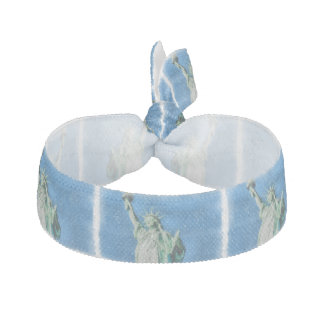 Statue of liberty, New York watercolors painting Hair Tie