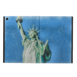 Statue of liberty, New York watercolors painting iPad Air Cover