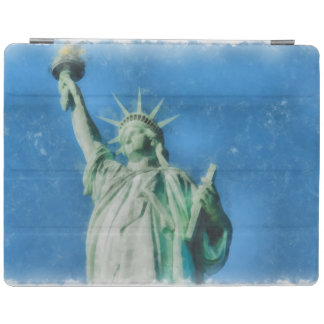 Statue of liberty, New York watercolors painting iPad Cover