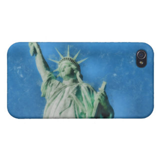 Statue of liberty, New York watercolors painting iPhone 4/4S Covers