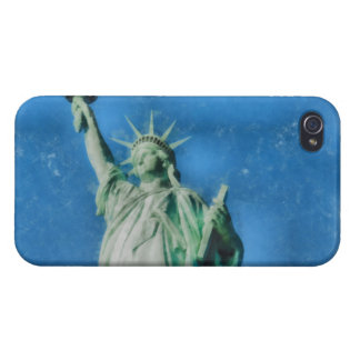 Statue of liberty, New York watercolors painting iPhone 4 Cases