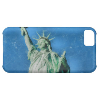 Statue of liberty, New York watercolors painting iPhone 5C Cover