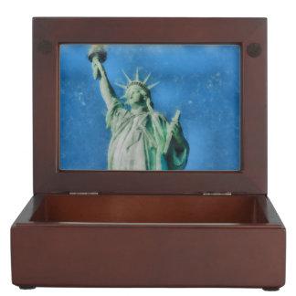 Statue of liberty, New York watercolors painting Keepsake Box