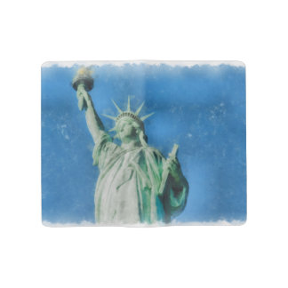 Statue of liberty, New York watercolors painting Large Moleskine Notebook