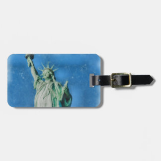 Statue of liberty, New York watercolors painting Luggage Tag