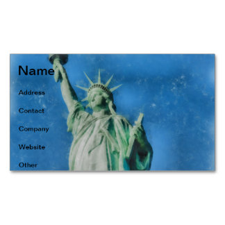 Statue of liberty, New York watercolors painting Magnetic Business Card