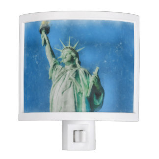 Statue of liberty, New York watercolors painting Nite Lights