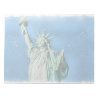 Statue of liberty, New York watercolors painting Notepad
