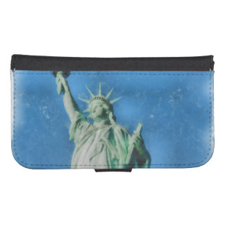 Statue of liberty, New York watercolors painting Samsung S4 Wallet Case
