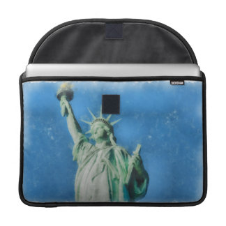 Statue of liberty, New York watercolors painting Sleeve For MacBooks