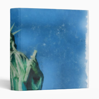Statue of liberty, New York watercolors painting Vinyl Binder
