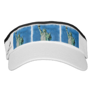 Statue of liberty, New York watercolors painting Visor