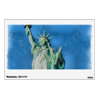 Statue of liberty, New York watercolors painting Wall Sticker