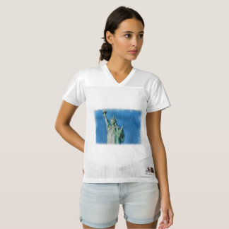 Statue of liberty, New York watercolors painting Women's Football Jersey