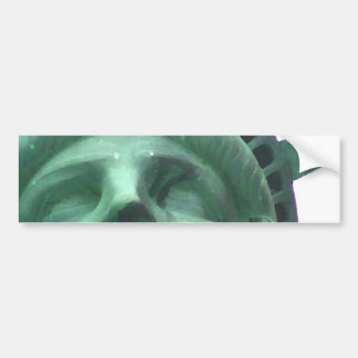 Statue of Liberty Oil Effect Bumper Sticker