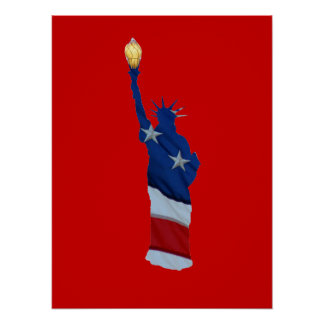 Statue of liberty on any color poster