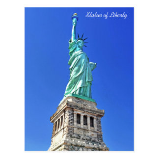 Statue of Liberty on Liberty Island in New York Postcard