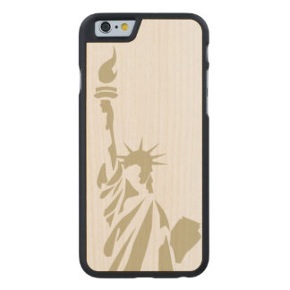 Statue of Liberty - Patriotic Carved Maple iPhone 6 Case
