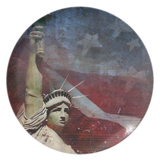 Statue of Liberty Patriotic Dinner Plate