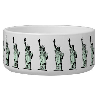Statue of Liberty Pet Bowl