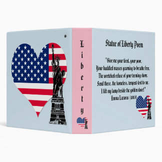 Statue of Liberty Poem 3 Ring Binder