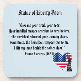 Statue of Liberty Poem Coaster