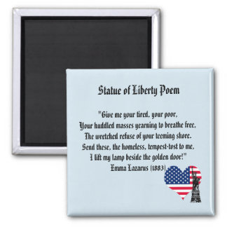 Statue of Liberty Poem Magnet