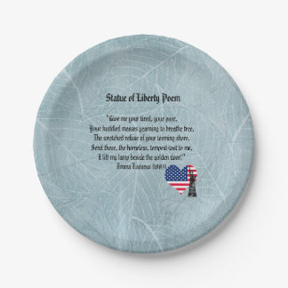 Statue of Liberty Poem Paper Plate