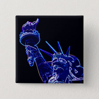 Statue of Liberty Pop Art 2 Inch Square Button