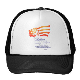 Statue of Liberty Quote Trucker Hat