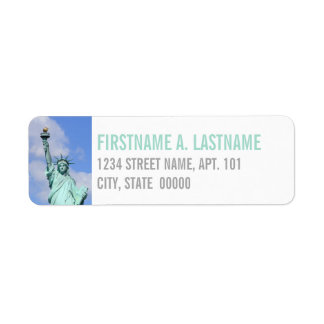 Statue of Liberty Return Address Label