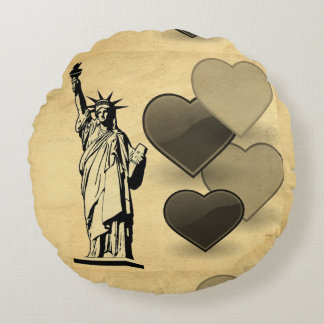 Statue of Liberty Round Pillow