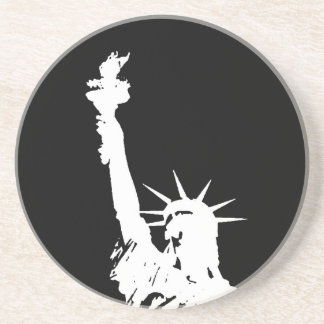 Statue of Liberty Silhouette Drink Coasters
