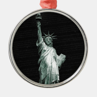 Statue of Liberty Silver-Colored Round Ornament