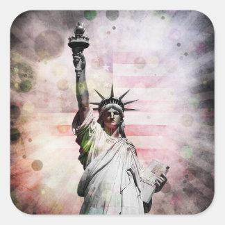 Statue of Liberty Square Sticker