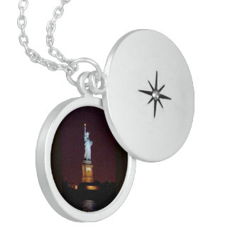 Statue of Liberty, Sterling Silver Round Locket