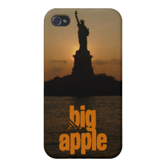 Statue of Liberty/Sunset iPhone 4 Cases