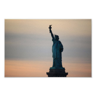 Statue of Liberty Sunset Poster